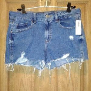 Old Navy Boyfriend Cutoff Distressed Shorts NWT!